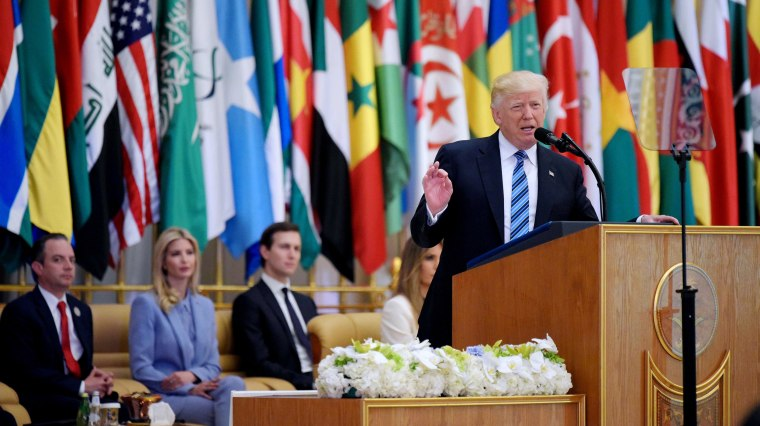 Image: Trump speaks at the Arabic Islamic American Summit