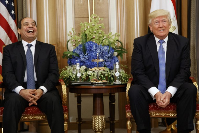 Image: Donald Trump, Melania Trump, Abdel Fattah al-Sisi