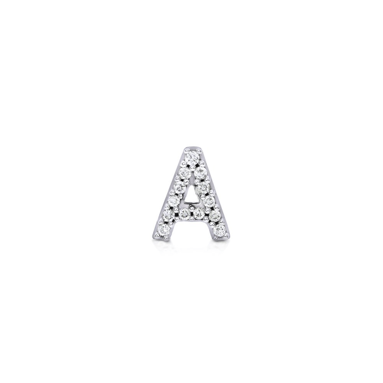 diamond letter stud
