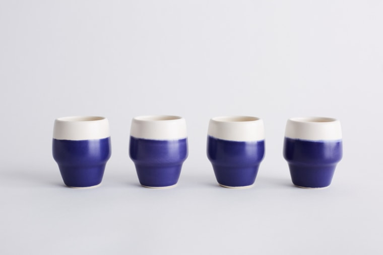 Breakfast in Blue Cup Set