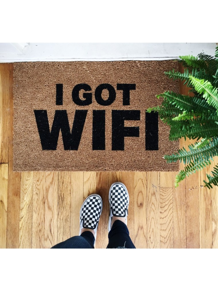 I Got Wifi Doormat