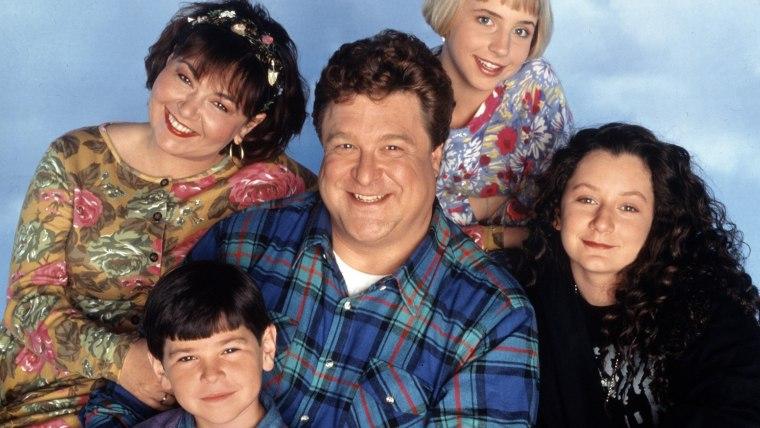 Image: ROSEANNE, Roseanne, Michael Fishman, John Goodman, Lecy Goranson, Sara Gilbert, Season 6. 1988-1997.