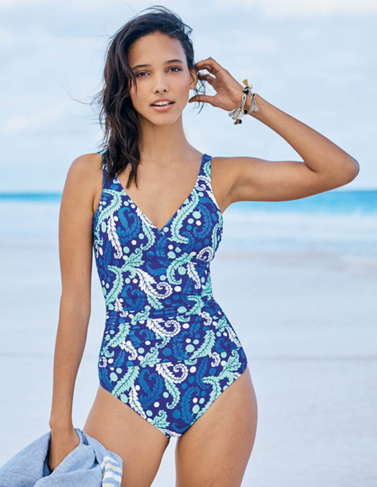Wrap Front Swim Suit