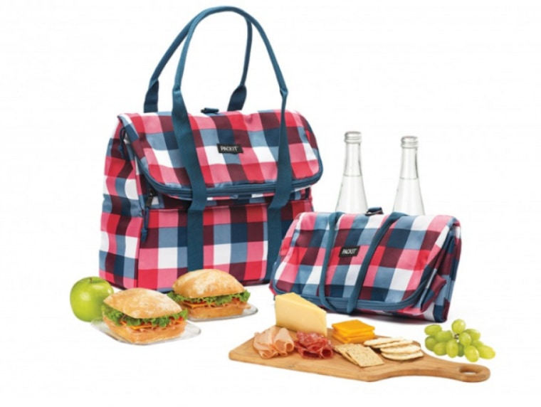 Freezable Picnic Tote in Gingham