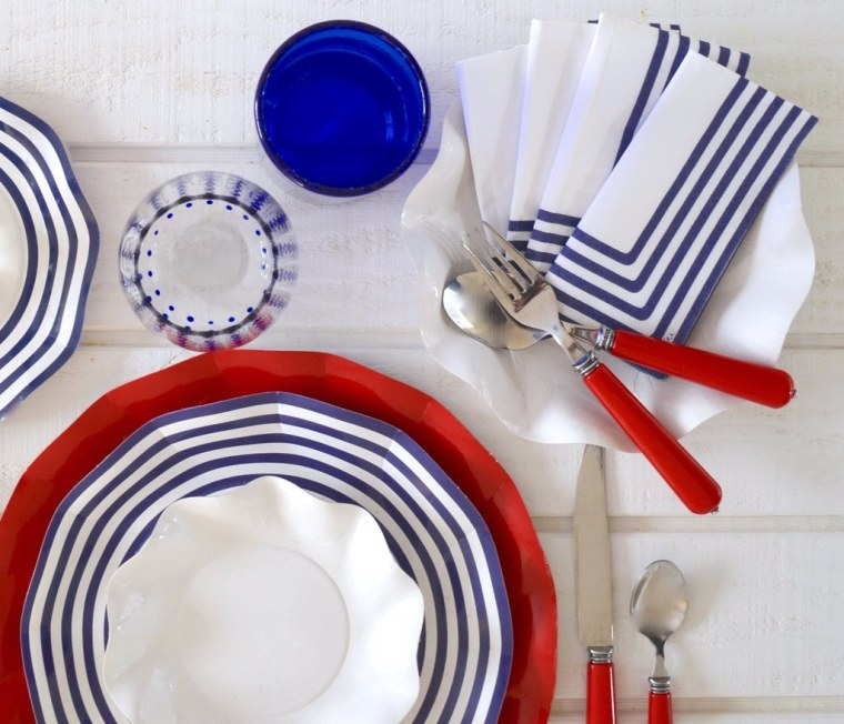 70-Piece Navy Place Setting,