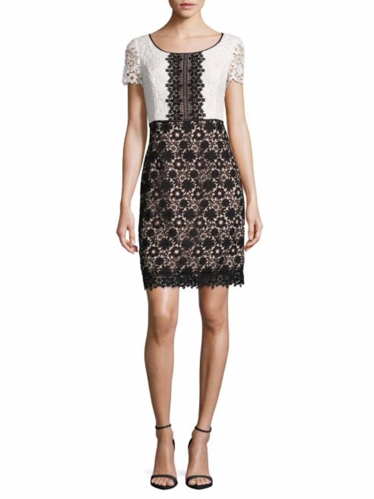 Color-blocked Short Sleeve Dress
