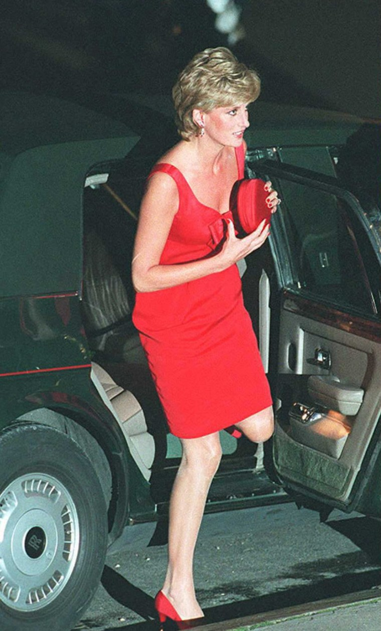 Britain's Princess Diana steps out of her car 25 S