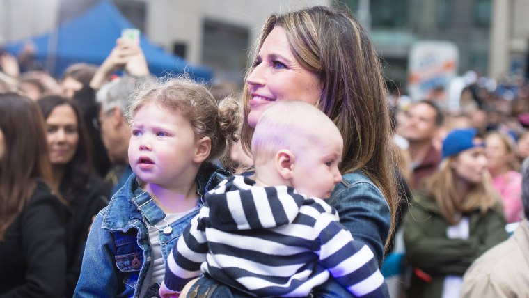 Savannah Guthrie and daughter Vale and son Charley at the Miley Cyrus TODAY show concert