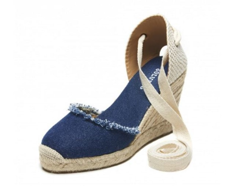 Denim Espadrille Wedge Sandal