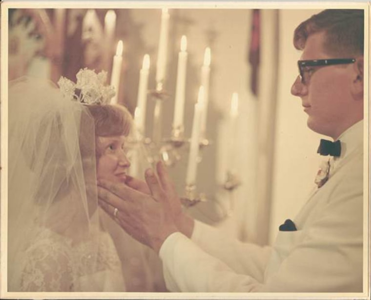 This photo from the June 3, 1967, wedding of Mike and Carol Anderson is a treasured photo from the day.