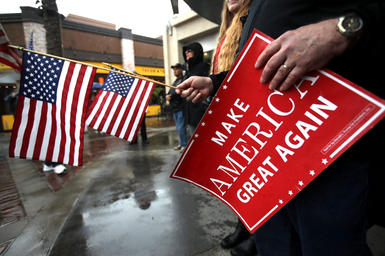 """Image: Trump Supporters Rally In Favor Of \""""America First\"""" Agenda"""