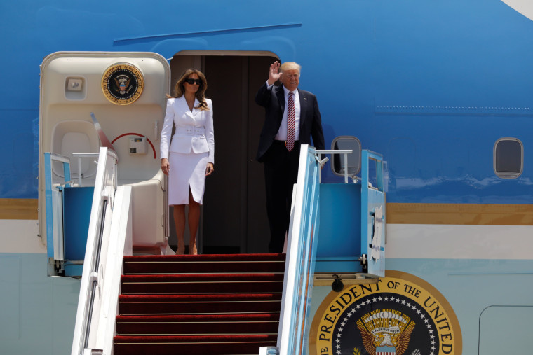 Image: President Donald Trump and first lady Melania Trump arrive in Israel