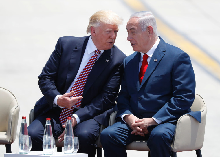Image: President Trump was welcomed at Ben Gurion airport by Israeli Prime Minister Benjamin Netanyahu