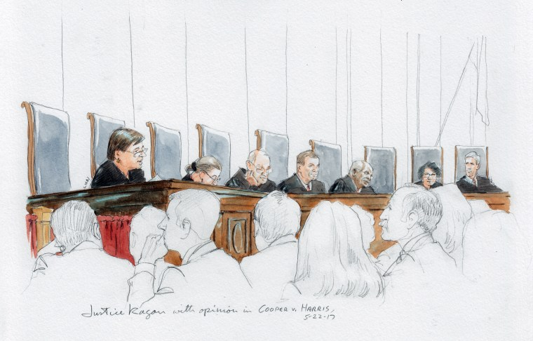 Image: Justice Kagan with opinion in North Carolina redistricting case