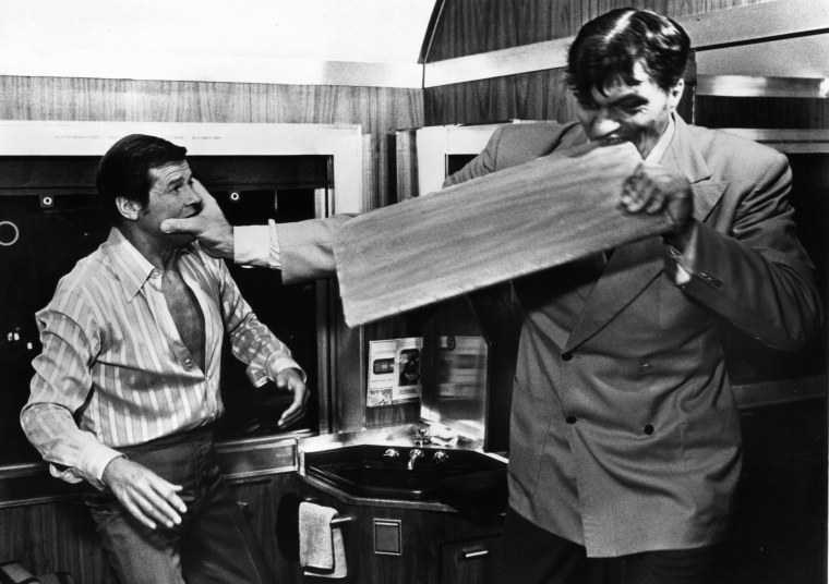 Image: Roger Moore And Richard Kiel In The Spy Who Loved Me