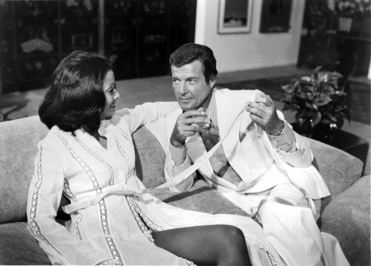 Image: Roger Moore and Emily Bolton as Manuela in Moonraker