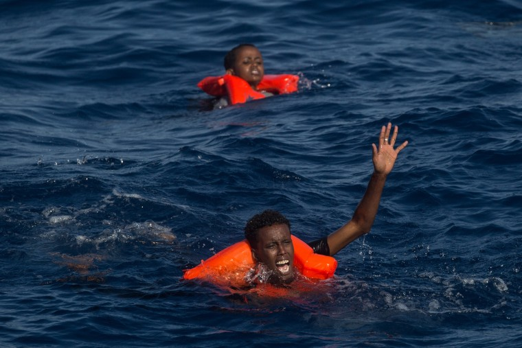Image: Migrant rescues, like this one on Wednesday, are already up on last year.