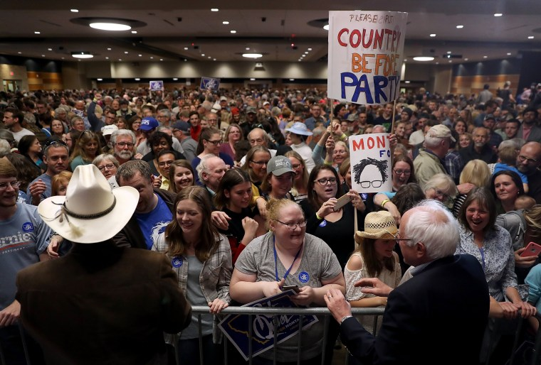 Image: Quist and Sanders campaign in Bozeman, Montana