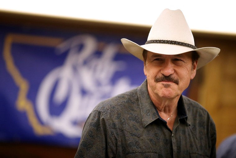 Image: Quist attends a gathering with supporters in Great Falls