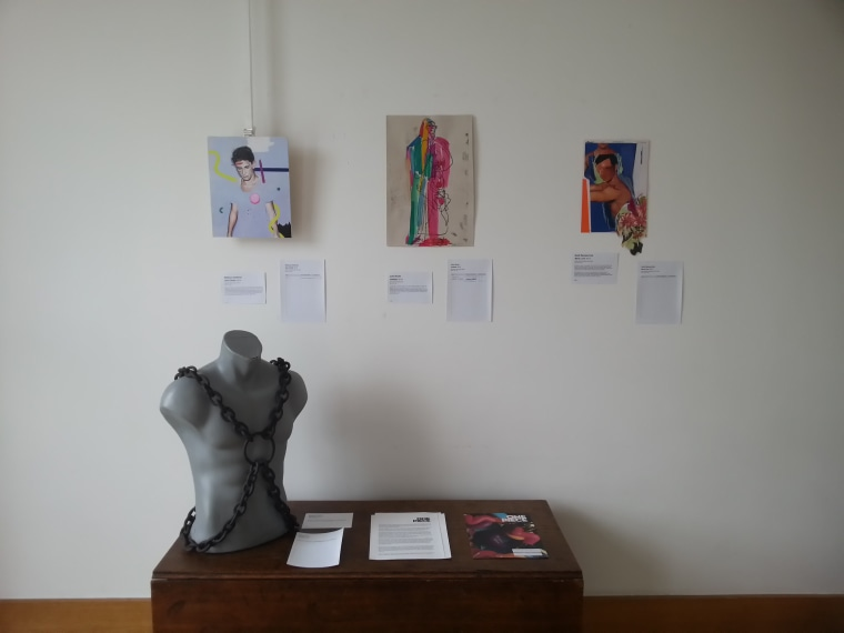 The One Piece showing included a variety of mediums for its art.