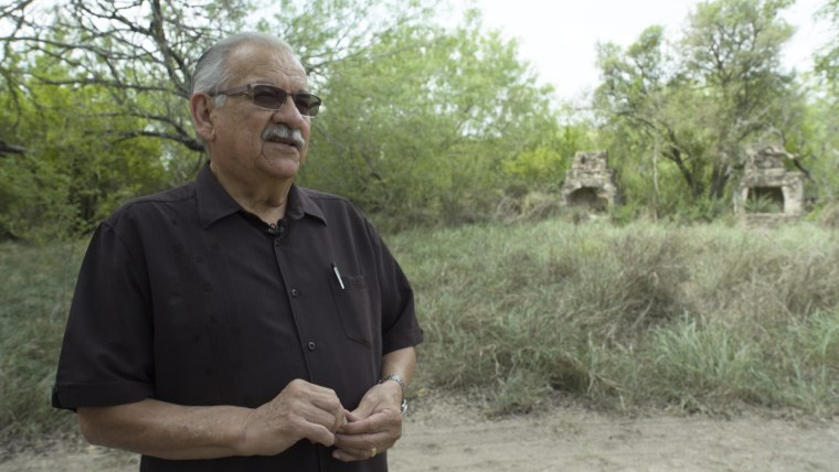 The federal government is claiming eminent domain to take a portion of ranch owned by Noel Benavides.