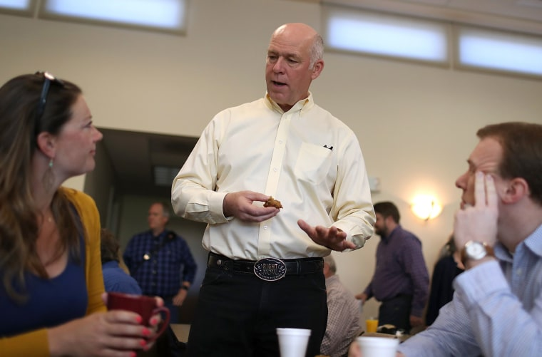 Image: Greg Gianforte Campaigns In Missoula