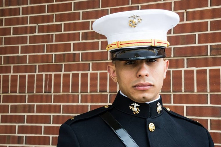 Newly Commissioned U.S Marines 2nd Lt. Kevin Franqui, May 2017.