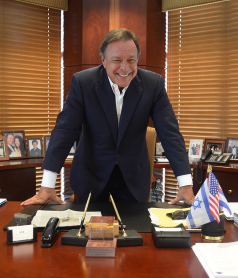 Mike Fernandez at his office in Miami.