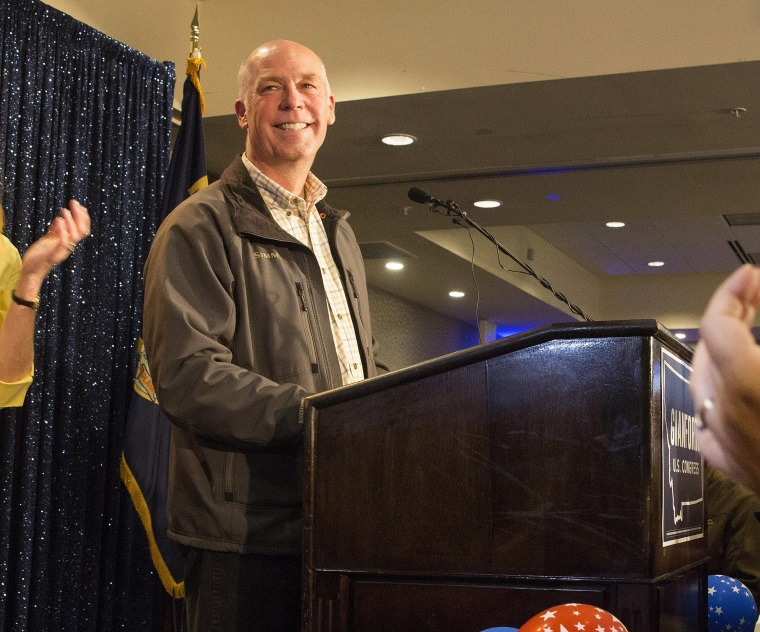 Image: GOP Candidate Greg Gianforte Attends Election Night Gathering In Bozeman