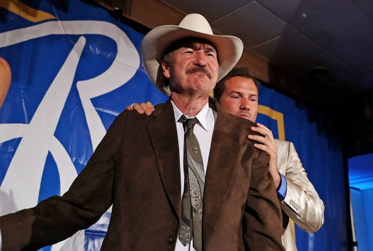 Image: Rob Quist Hgives his concession speech