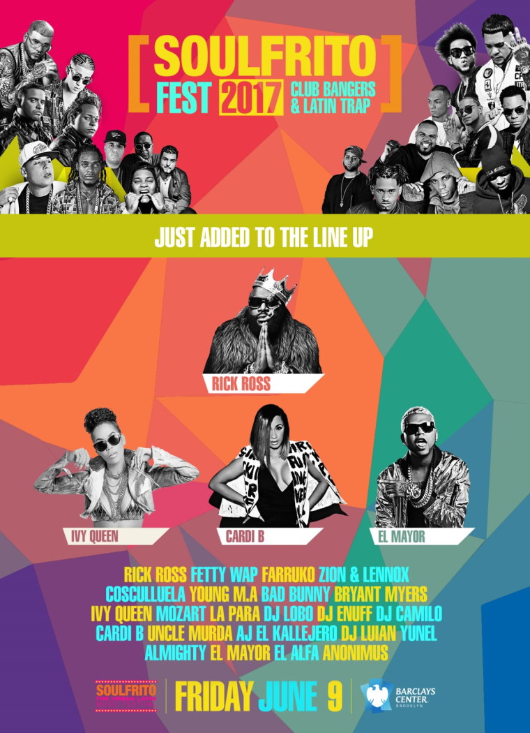 Flyer for Soulfrito, the Urban Latin Music Festival.