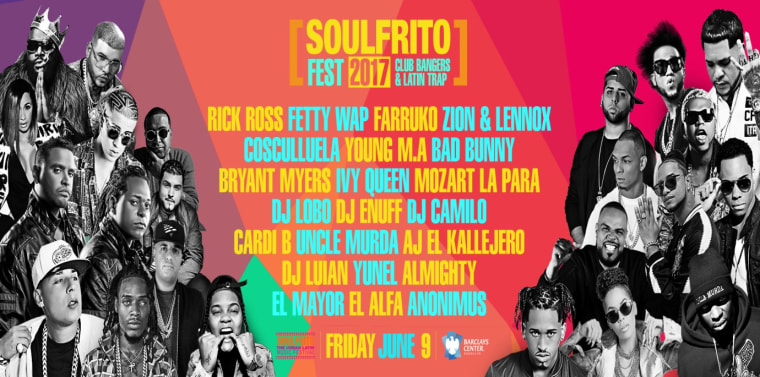 Flyer for Soulfrito concert in New York.