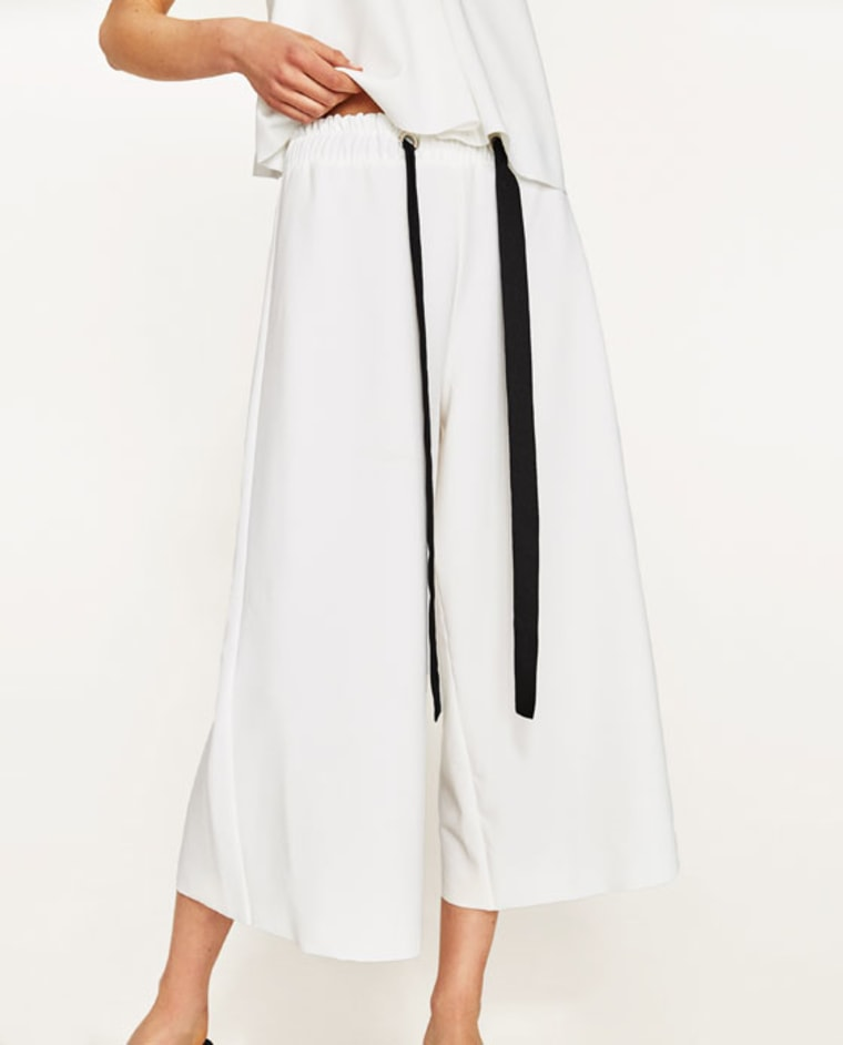 Culottes With Contrasting Bow