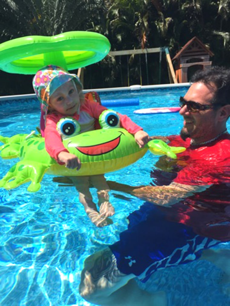 While living with a rare, untreatable disease can make life tough for Stella and her parents, she still loves swimming.