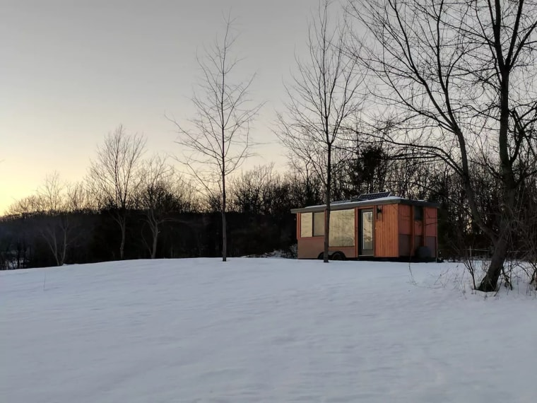 A beautiful way to spend winter, in this heated tiny home in the Hudson Valley.