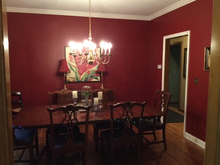 Lori's red dining room.
