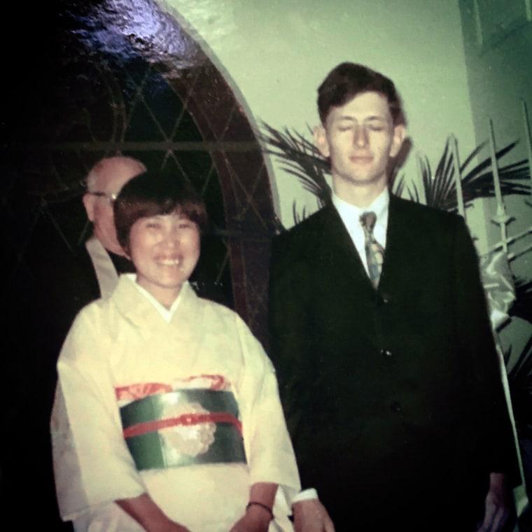 Setsuko and Bob Harmon on their wedding day 46 years ago.