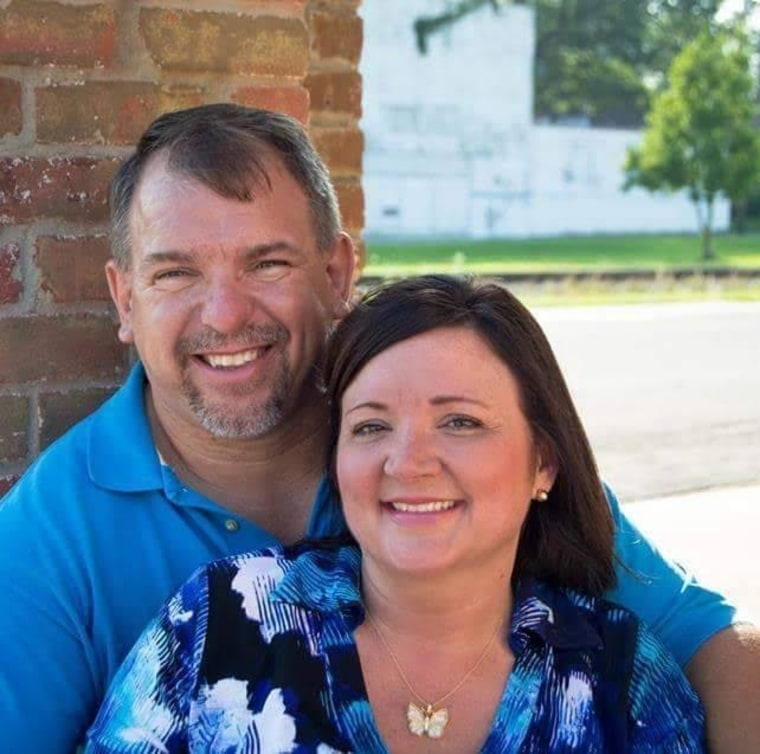 Greg Robbins, left, and his wife Gwen Robbins, right, said they are eternally grateful for Anna Lewis' decision to donate her son's organs after he died last year.
