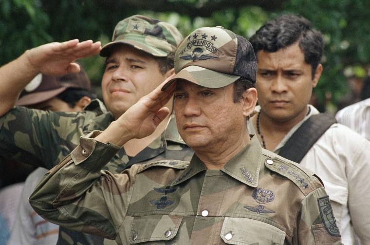 Image: General Manuel Antonio Noriega marks the 85th anniversary of the death Victoriano Lorenzo