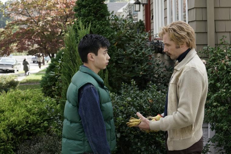 "Actor Ivan Mok (left) plays North Vietnamese spy Tuan Eckert on FX's ""The Americans."""