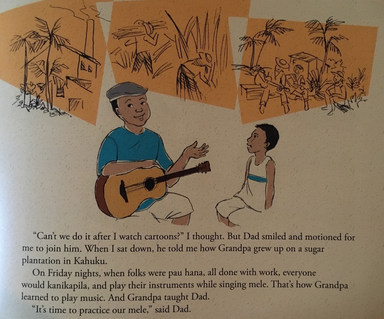 """A page from Patrick Landeza's """"Danny's Hawaiian Journey."""""""
