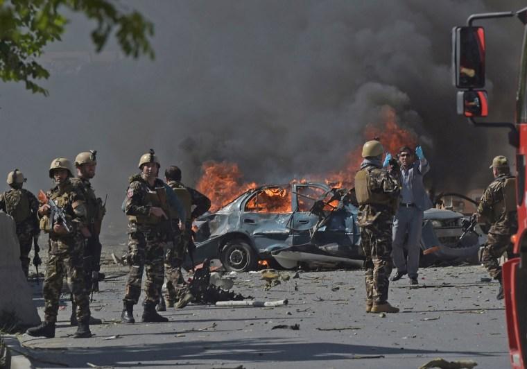 Image: AFGHANISTAN-UNREST-ATTACK