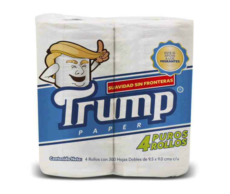 Image: Trump toilet paper wrapped in mock-up packaging