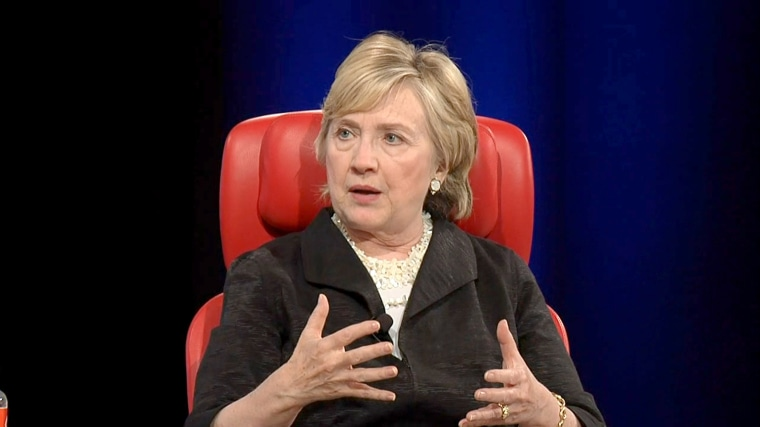 Image: Hillary Clinton at Recode Conference