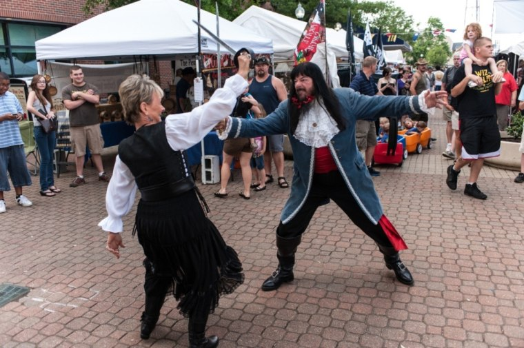 The Blackbeard Festival in Hampton, Virginia. Photo courtesy Hampton, VA CVB & Blackbeard Pirate Festival