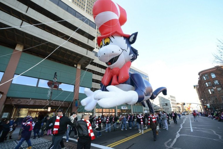 The Seuss Parade in Springfield, Massachusetts, hometown of children's book author Theodore Geisel (a.k.a. Dr. Seuss).
