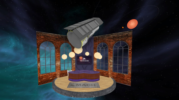 The virtual reality stage of NBC News MACH's space science discussions