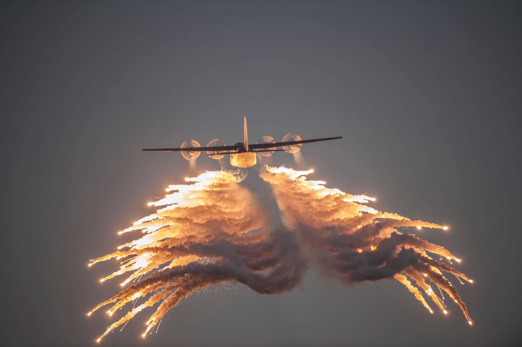 Image: South African National Defense Force perform during a military training exercise