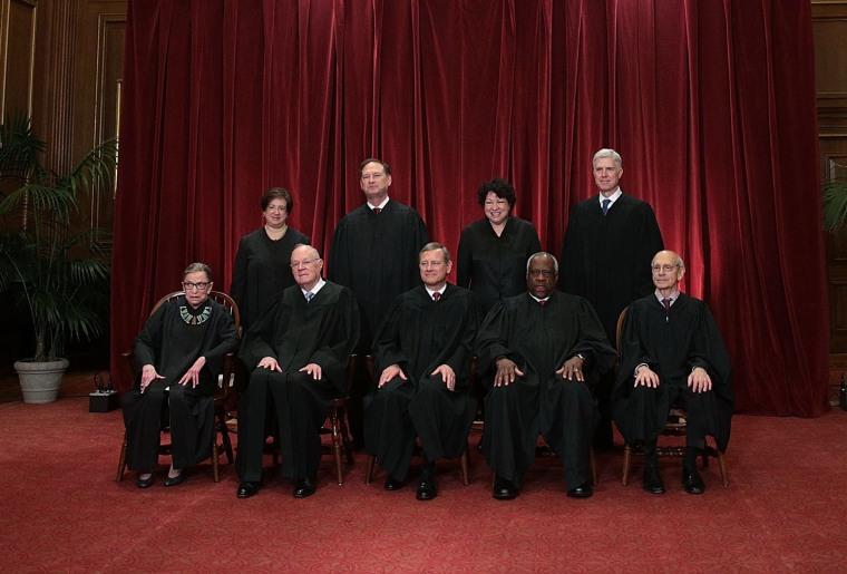 Image: U.S. Supreme Court Justices Pose For Formal Portrait