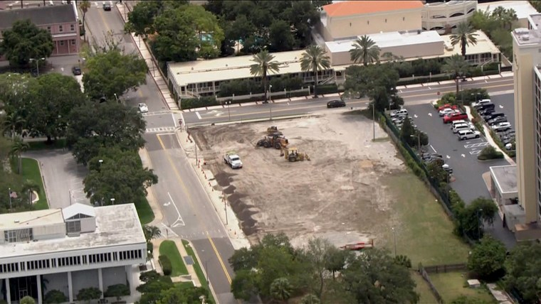 Image: Land apart of the battle between the Church of Scientology and Clearwater officials.